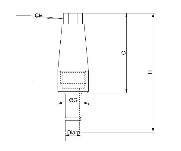 Silenziatore innesto baionetta testa esagonale - SIB/A in bronzo sferico sinterizzato
