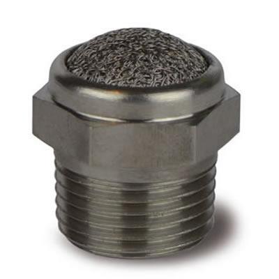 Silenziatore rete esagono acciaio INOX AISI 316L NPT SREX/N - Sinterfiltri Torino