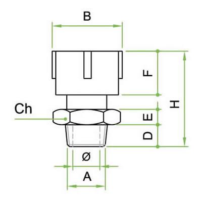 Valvola TSI/N regolatrice in acciao nichelato filettatura NPT